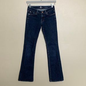7 For All Mankind dark wash bootcut jeans 26